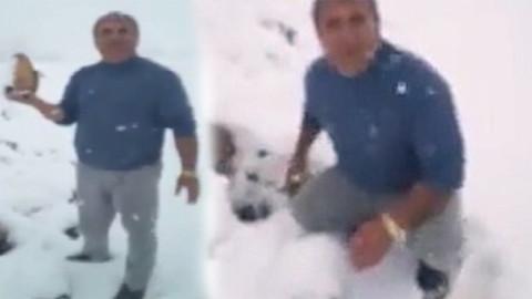Mahsulü kar altında kalan şeker çiftçisi isyan etti