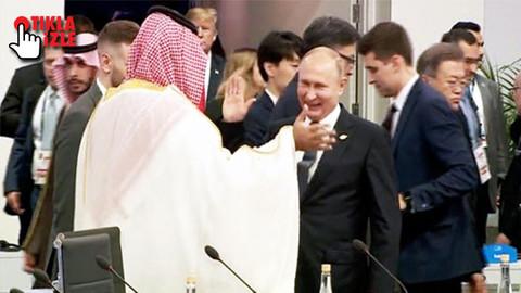 Putin ve Prens Selman'ın samimi halleri dünyada gündem oldu