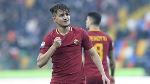 Roma ile Inter maçında Cengiz Ünder'in golü
