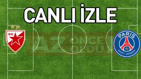 Kızılyıldız PSG şifresiz canlı izle - Kızılyıldız PSG ücretsiz AZ TV izle
