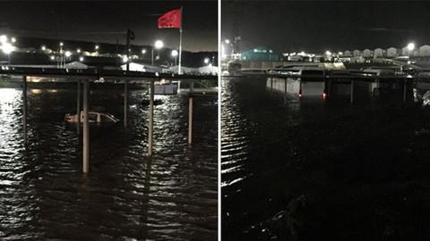 İstanbul Havalimanı şantiyesini su bastı
