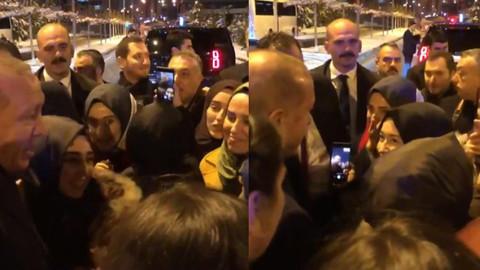 Cumhurbaşkanı Erdoğan öğrencilere sürpriz yaptı