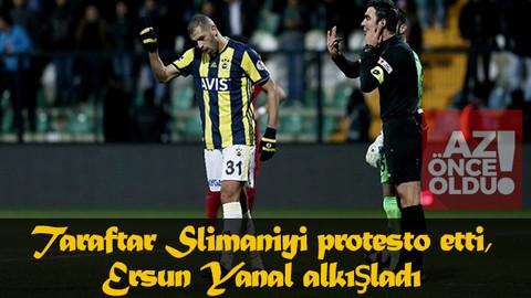 Fenerbahçe'de Slimani şoku! Taraftar Slimaniyi protesto etti, Ersun Yanal alkışladı