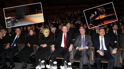 Cumhurbaşkanı Erdoğan Fazıl Say konserinde