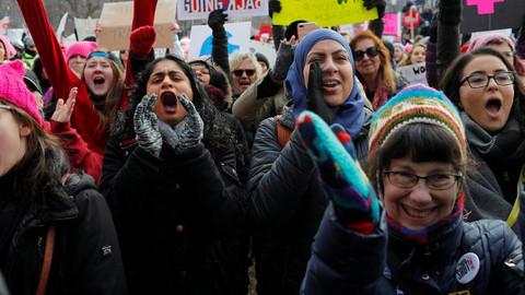 Trump'a kadın protestosu