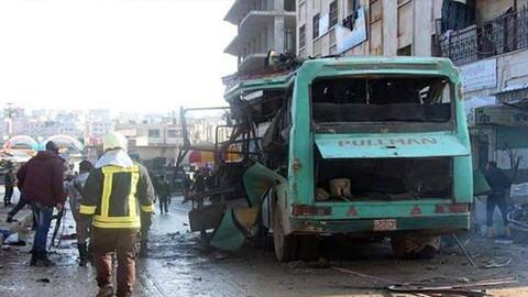 Afrin'de patlama meydana geldi
