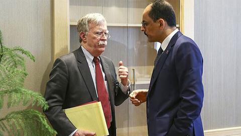 İbrahim Kalın Bolton ile Suriye'yi görüştü