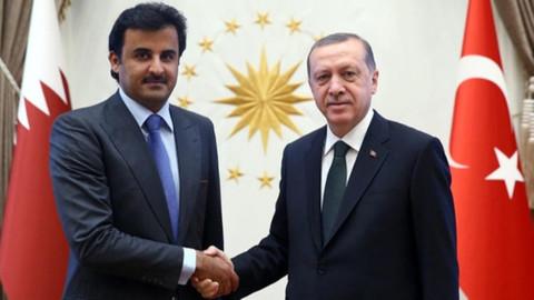 Cumhurbaşkanı Erdoğan Katar Emiri ile konuştu