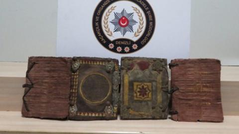 Tarihi eser operasyonunda 1000 yıllık kitaplar ele geçirildi