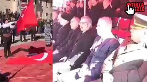 Protokol İstiklal Marşı'nda ayağa kalkmadı!