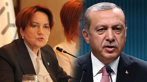 Erdoğan, Meral Akşener hakkında suç duyurusunda bulundu