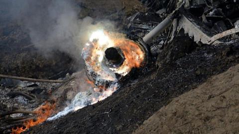 Hint savaş uçağı Pakistan sınırında düştü