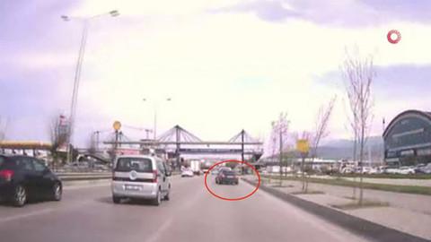 Bursa'daki kaza böyle görüntülendi