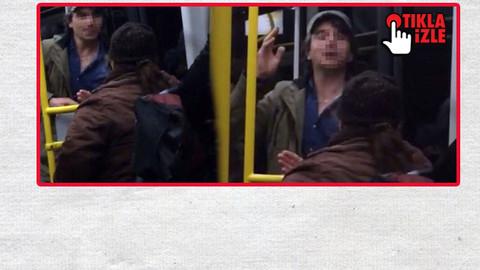 Halk otobüsünde yaşlı kadına hakaret etti