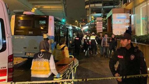 Şişli'de halk otobüsü kaza yaptı