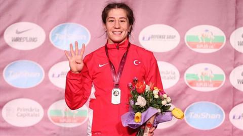 Yasemin Adar üst üste 4. kez Avrupa şampiyonu oldu