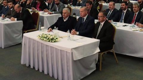 Erdoğan İstanbul İl Başkanlığı'nda toplantı gerçekleştirdi