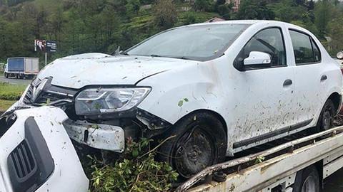 Rize'de, MHP MYK üyeleri trafik kazası yaptı