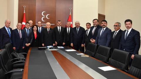 Devlet Bahçeli, partisinin 15 il başkanıyla bir araya geldi