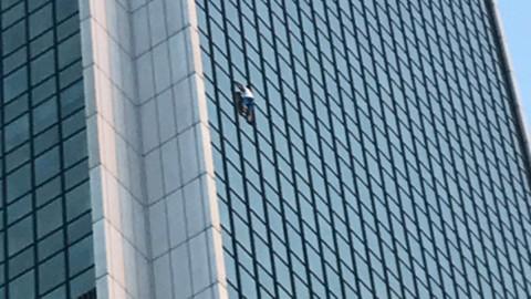 40 katlı binaya tırmandı