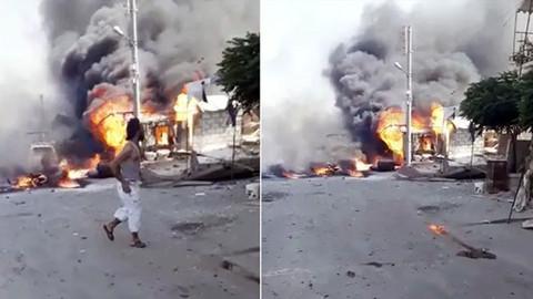 Afrin'de bomba yüklü araç patladı: 11 ölü