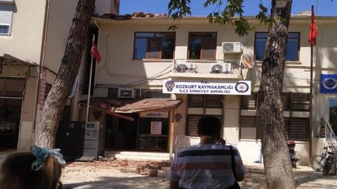 Depremin ardından hasarı gösteren ilk kareler!