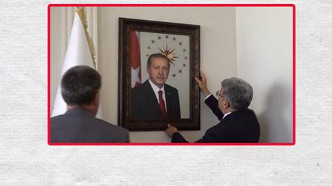 Erdoğan'ın fotoğrafı eski yerinde!