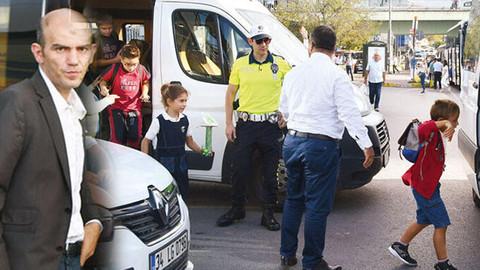 Ehliyetsiz servis şoförü öğrencileri bırakıp kaçtı