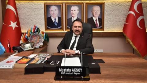 MHP Antalya İl Başkanı istifa etti