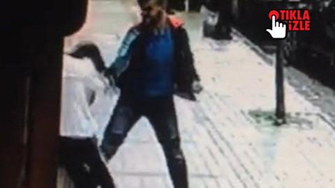 Sokak ortasında kızı böyle dövdü