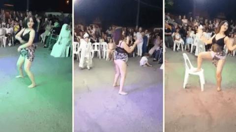 Twerk dansı yaptı! Sünnet düğününde olay görüntü