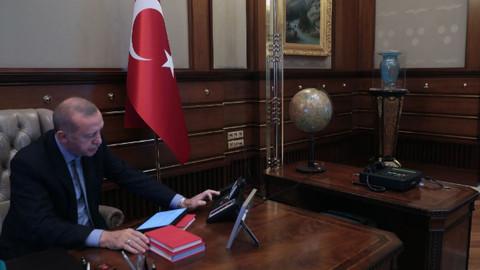 Cumhurbaşkanı Erdoğan, Barış Pınarı Harekatı hakkında liderlere bilgi verdi