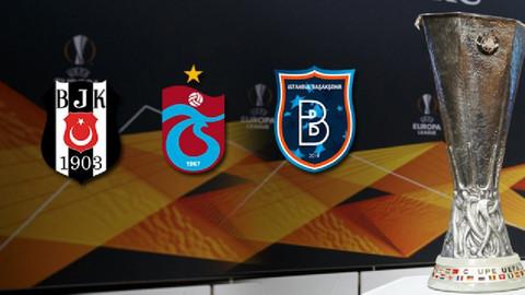 UEFA Avrupa Ligi'nde Türk takımları gecesi