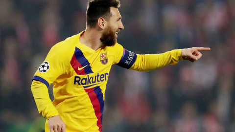 Messi'den Devler Ligi'nde bir ilk daha!