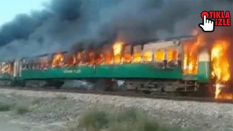 Pakistan'da tren yangını: Çok sayıda ölü var