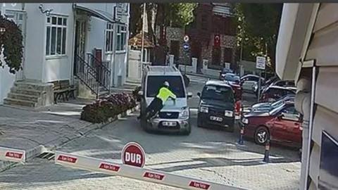 Polisi sürükleyen şoför tutuklandı