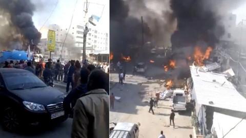 Suriye'nin kuzeyindeki Bab ilçesinde bombalı terör saldırısı