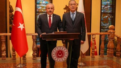 Şentop'tan Milli Savunma Bakanı Akar'a ziyaret
