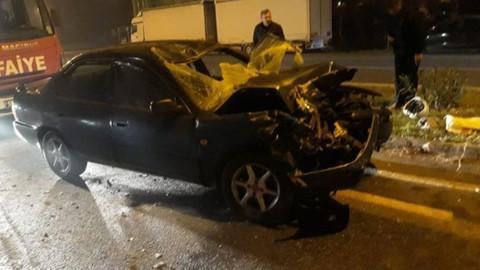 Samsun'da otomobil ile traktör çarpıştı!