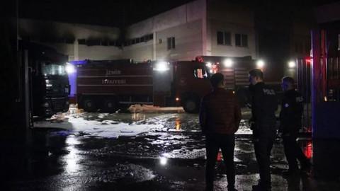 İzmir'de varil fabrikasında korkutan patlama