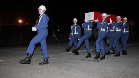 Hakkari'de şehit olan askerin cenazesi Konya'ya getirildi