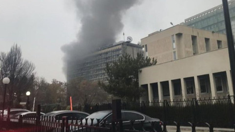 Başkent'te DSİ Genel Müdürlüğü binasında yangın