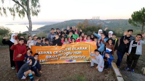 Minik öğrencilerden Bakan Kasapoğlu'na teşekkür