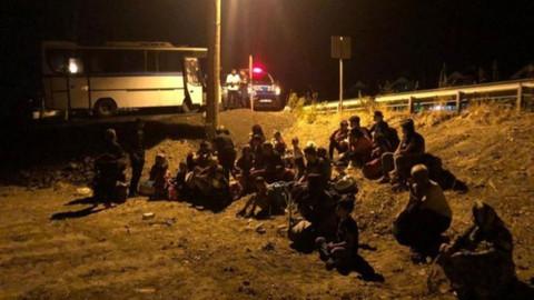 Ayvalık'ta 76 düzensiz göçmen yakalandı