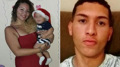 Kucağında bebeği varken kafasından vurdu!