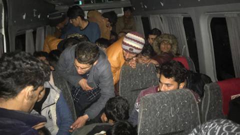 Ankara'da 43 kaçak göçmen yakalandı