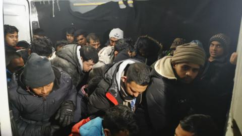 Edirne'de 28 kaçak göçmen yakalandı
