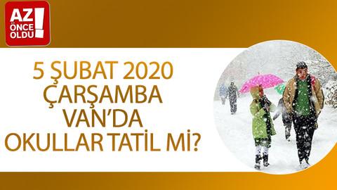 5 Şubat 2020 Çarşamba Van'da okullar tatil mi?