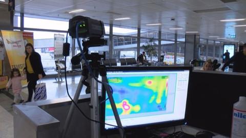 Koronavirüs önlemi! Uluslararası yolcular termal kamera ile kontrol ediliyor