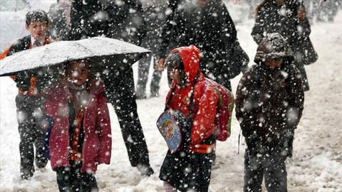 Üç kentte kar tatili